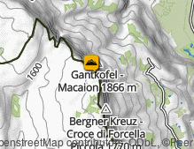 Map: Gantkofel / Monte Macaion