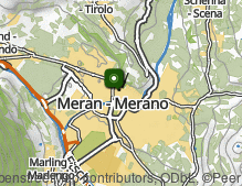 Map: Historic town of Merano
