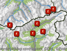 Map: Hiking in Valle di Tures & Aurina