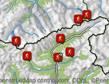 Map: Hiking in the Valli di Tures and Aurina