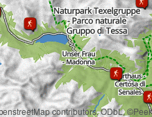 Map: Hiking in Val Senales