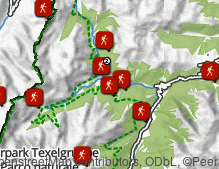 Map: Hiking in Val Passiria