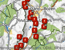 Map: Hiking in the South of South Tyrol