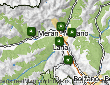 Map: Merano & surroundings