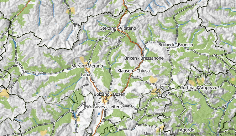 Map: South Tyrol