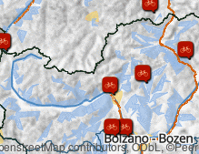 Map: Bike paths in South Tyrol