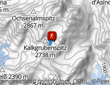 Mappa: Bergtour Vals Marblsee Fane Alm