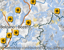 Map: Alpine pastures and plateaus