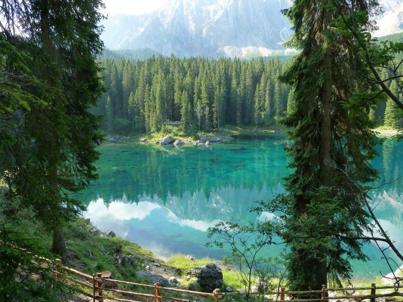 Lago Di Carezza Alto Adige Provincia Di Bolzano