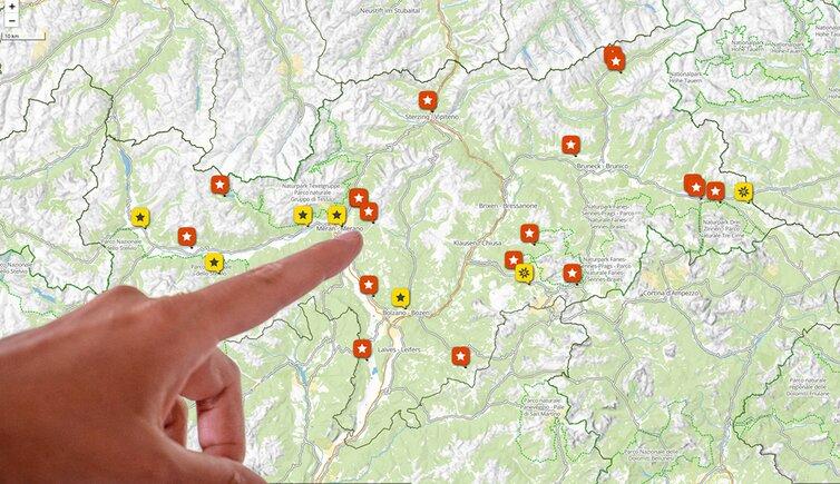 Cartina Italia Javascript.Mappa Dell Alto Adige