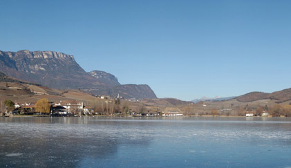 The frozen Lake of Caldaro